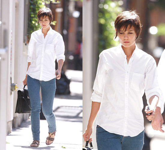 Get Katie Holmes Crisp White Shirt Style | POPSUGAR Fashion UK
