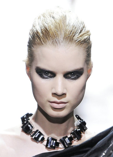 Chanel sent out grunge goths with washed-out skin and matted hair,
