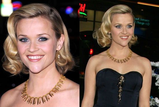 This short style suits Reese's heart-shaped face and her do looked