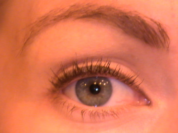 Start with a bare eye and a thick line, I used Bobbi's Graphite Shimmer Ink Gel Liner.