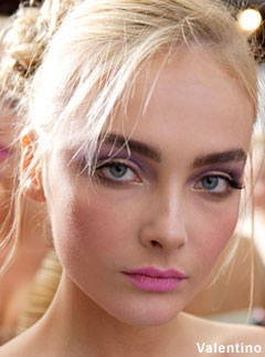 Big, bold brows at Valentino 