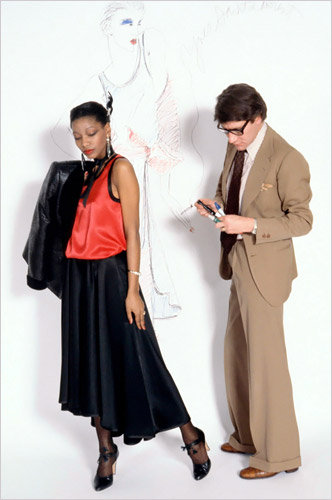 Yves St. Laurent with Black Muse
