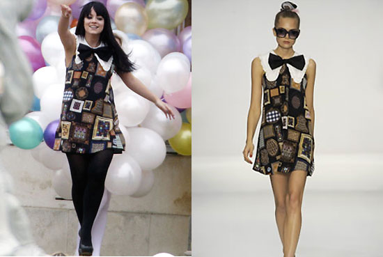 Celebrity Style Lily Allens S Ppq Bow Dress And Yves Saint