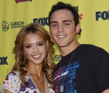 Jessica and Joshua Alba