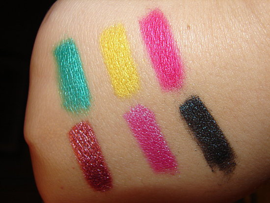 Medusa's Makeup Swatches with flash