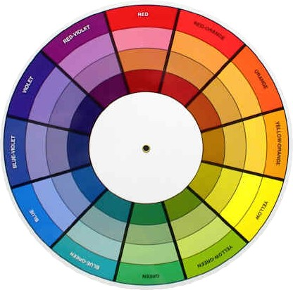 tertiary colour wheel. tertiary colors.
