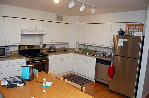 Before and after zulkey 39 s kitchen revamp popsugar home Revamp old kitchen cabinets