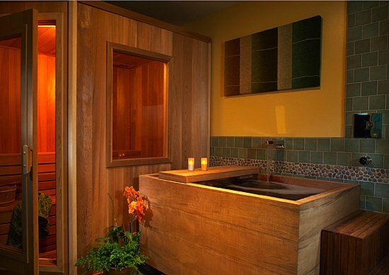 Coveted crib a craftsman remodel popsugar home for Master bathroom with sauna