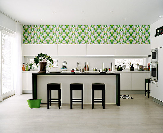 Do you have wallpaper in your kitchen popsugar home for Modern kitchen wallpaper ideas