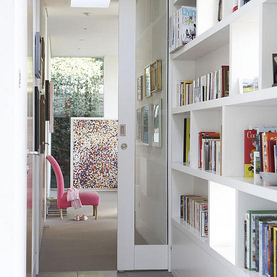 A cozy home library