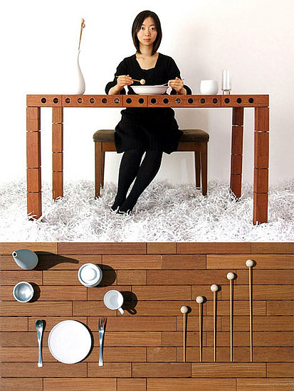 Weird furniture music dining table popsugar home for Strange table