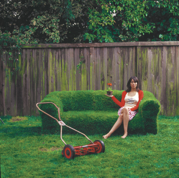 weird furniture grass couch