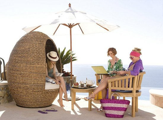 One of these would have to be the wicker egg chair from the fab four's ...