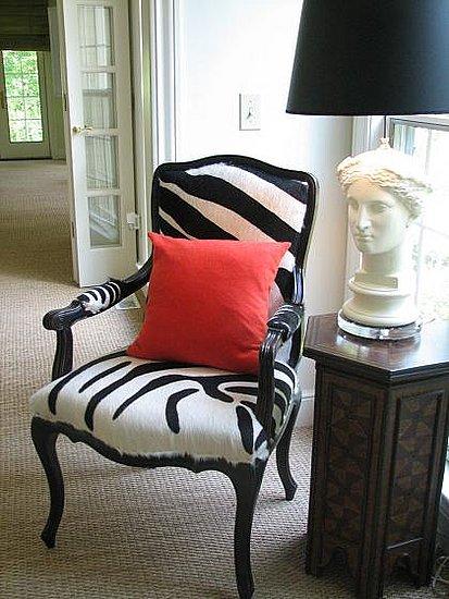 Crave Worthy: Camel Back Zebra Print Chair