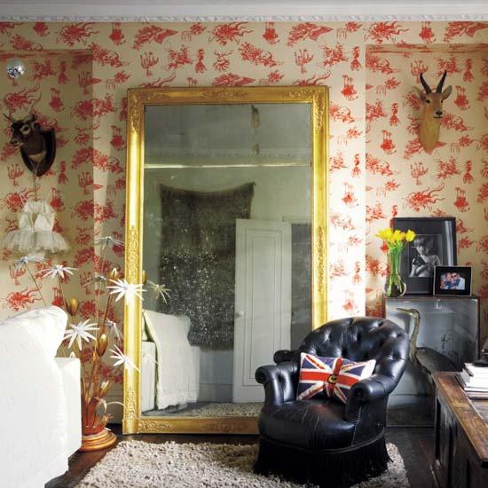 Rustic Eclectic Living Room: Dream Thrift: Floor Mirror