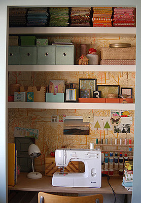 Would you transform a closet into a craft area popsugar for Transform small closet space