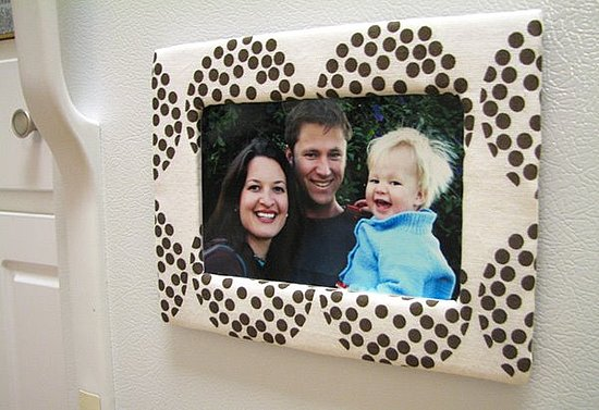 DIY: Cardboard and Fabric Magnetic Photo Frame material - Picture Frames With Fabric Diy