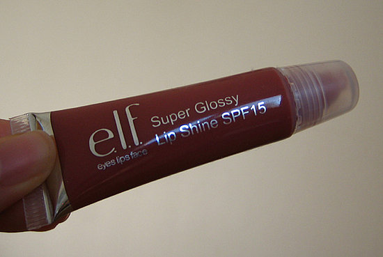 e.l.f. Super Glossy Lip Shine SPF15 in Malt Shake, used 1x with a separate brush.