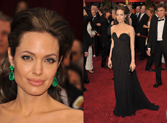 angelina jolie red carpet dresses. Oscars Red Carpet: Angelina