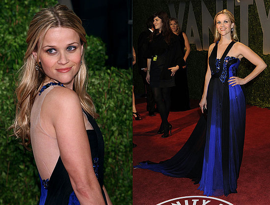 reese witherspoon oscars dress. Oscars Afterparty: Reese
