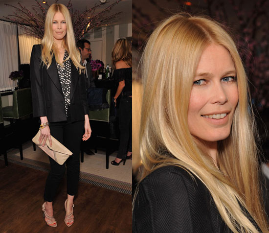 claudia schiffer no make up. And cropped pants no less.