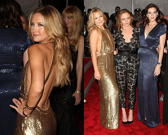 Kate Hudson's gal pal Stella McCartney dressed her up tonight in a shimmery ...