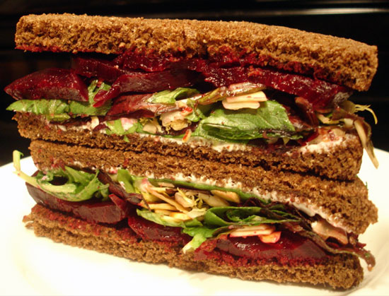 Roasted Beet Sandwiches With Herbed Goat Cheese Recipes — Dishmaps