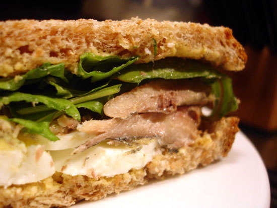 Recipe for sardine and arugula sandwich from 1989 issue of for Sardine lunch ideas