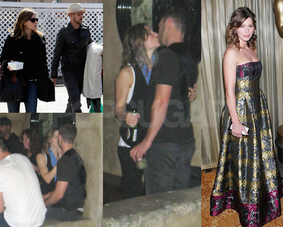 justin timberlake and jessica biel kissing. justin timberlake and jessica