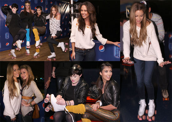 Photos of Lauren Conrad, Kim Kardashian, Vanessa Minnillo at the Pepsi