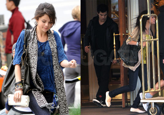 selena gomez and taylor lautner kissing. makeup Taylor Lautner and
