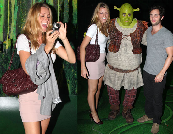 Photos Of Blake Lively And Penn Badgley At Shrek The Musical On