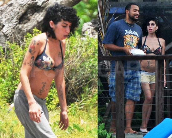 Amy in St Lucia - The Hollywood Gossip