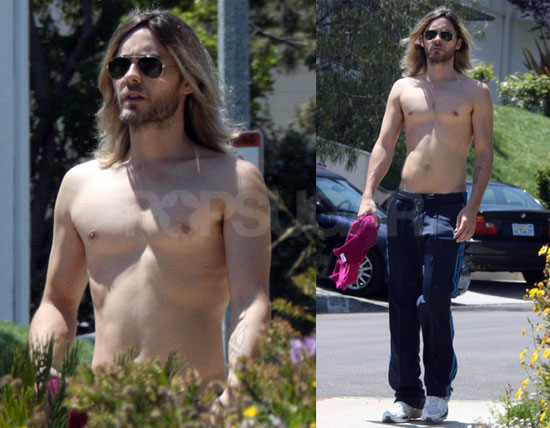 jared leto shirt off
