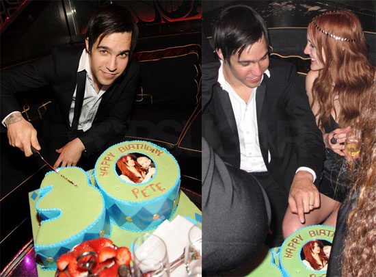 Birthday Cake Photos Of Ashlee Simpson And Pete Wentz In Las Vegas For His 30th
