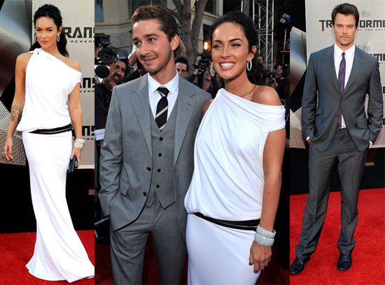 megan fox red carpet dress. a star-studded red carpet