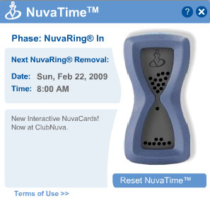 NuvaTime Reminds You When to Change Your NuvaRing