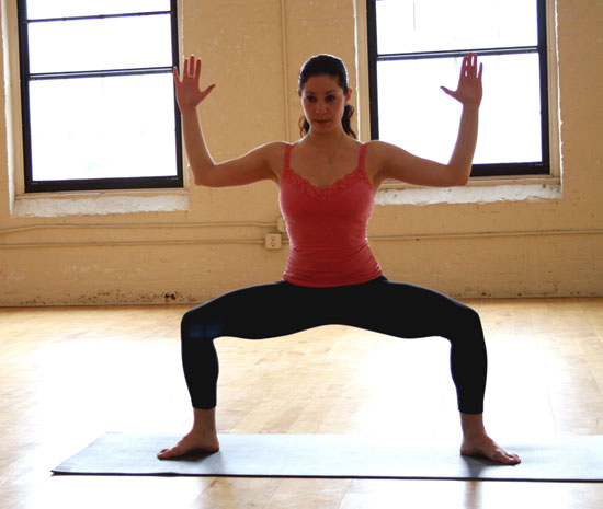 Yoga Goddess Pose