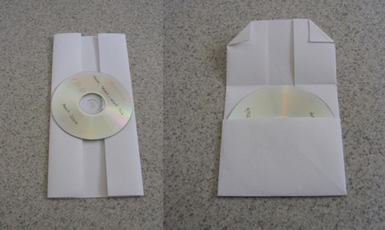 DIY CD or DVD Case Made From Folded Piece of Paper | POPSUGAR Tech