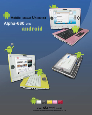 Alpha 680 Netbook Runs Android and Costs $250