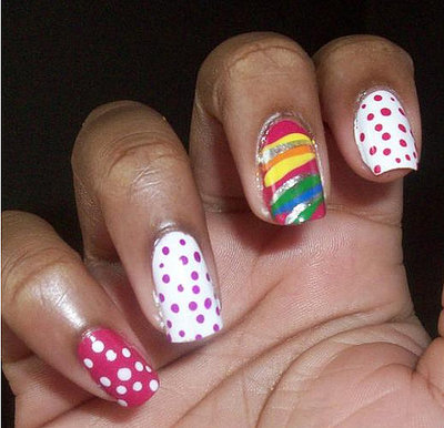 cd84742f07c792cf koko.xlarger Colorful nails art   Hundreds of nails manicure ideas