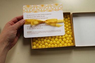 Diy Baby Shower Invitations DIY lemonhead baby shower