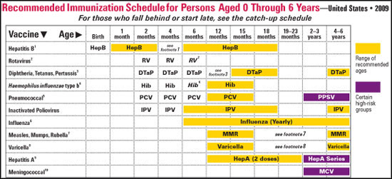 Vaccines: Sticking With the Original Plan Vaccines For Children Chart