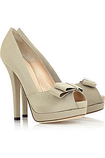 Cream grosgrain shoes with bow £362 from net-a-porter.com