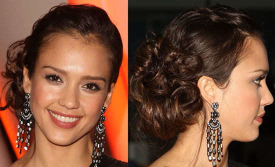 jessica alba hair up styles. try diff. hair style lalo