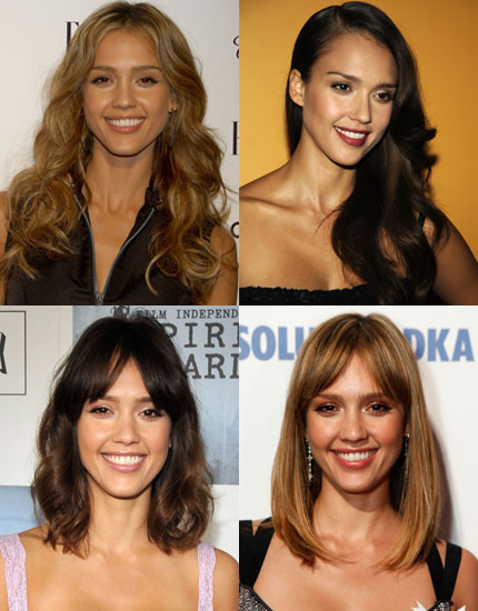 Highlights of Jessica Alba She's been playing around with the length and