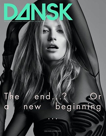 Supermodel Gisele Bündchen covers Dansk magazine's 22nd issue.