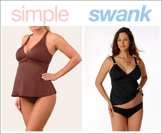Tankini style suits flatter almost every body shape and provide pregnant ...