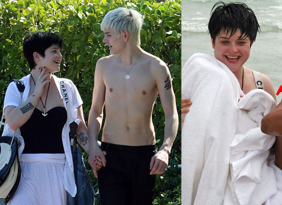 kelly osbourne before and after. Kelly splashed an unsuspecting