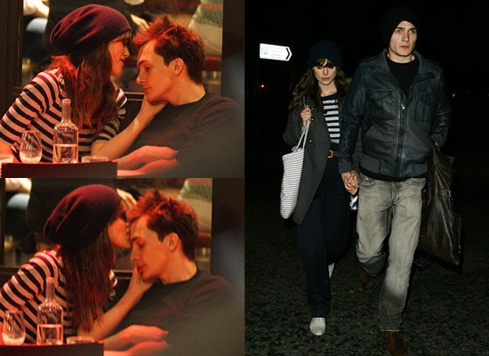Photos of Keira Knightley and Rupert Friend Kissing at Dinner in London